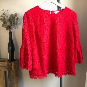 H&M Red Lace top - size 8